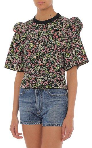 Ruffled Cotton T-Shirt