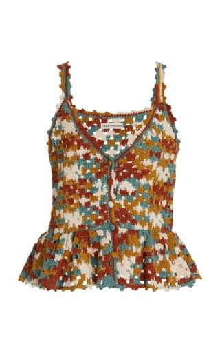 Estrella Crocheted Cotton-Wool Top