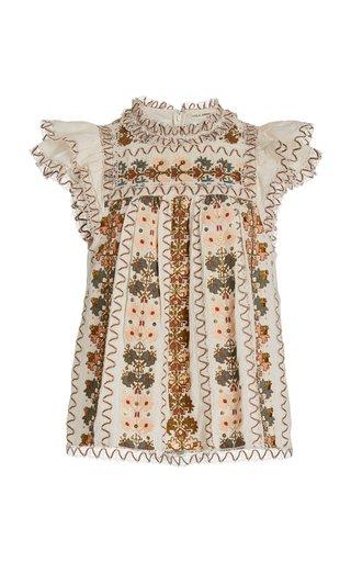 Mona Embroiderd Silk Top