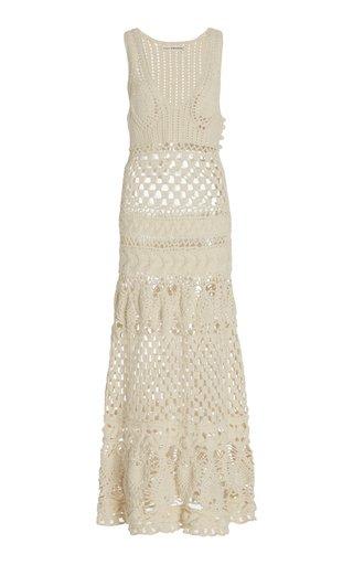 Alexis Crocheted Wool Maxi Dress