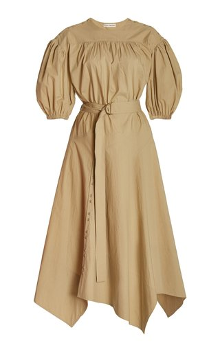 Arlenis Belted Cotton Midi Dress