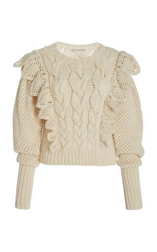 Romina Ruffled Wool Sweater