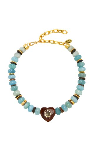 Gemini Beaded Gold-Plated Necklace