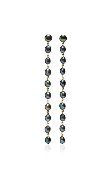 Long Cairo Freshwater Pearl Earrings