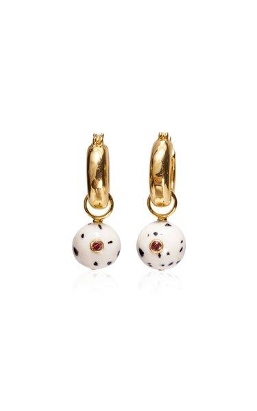 Dragon Fruit Marble Drop Earrings