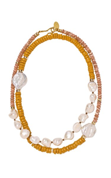 Clement Bead and Pearl Necklace
