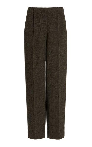 Mélange Straight-Leg Pants