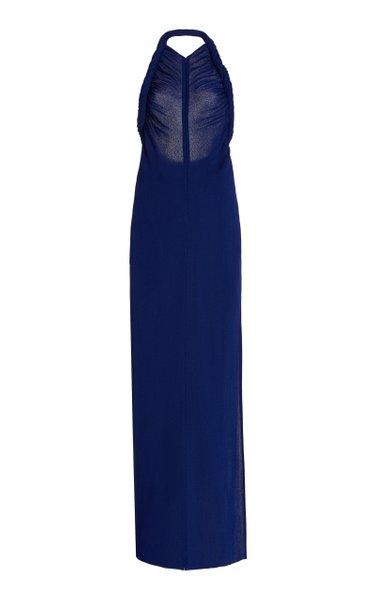 Halter Jersey Maxi Dress