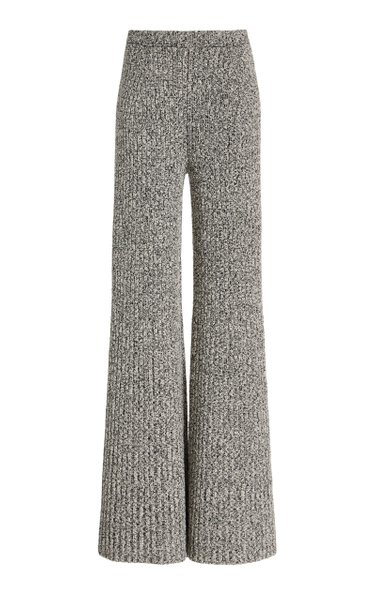 Speckled Boucle Wide-Leg Pants
