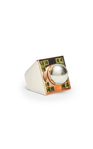 18K Rose Gold & White Gold Crop Circle Ring
