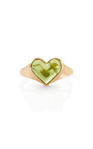 14K Yellow Gold Love Lollipop Pinky Ring