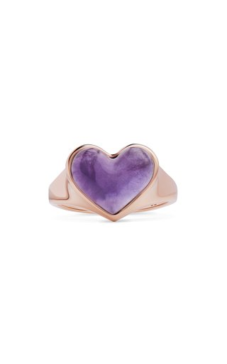 14K Rose Gold Love Lollipop Pinky Ring