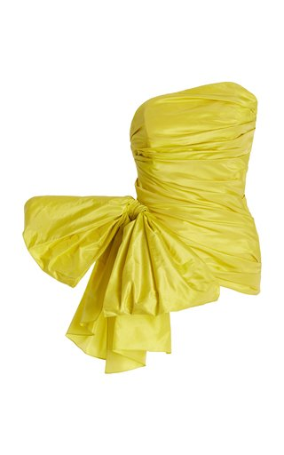 Bow-Embellished Silk Taffeta Top