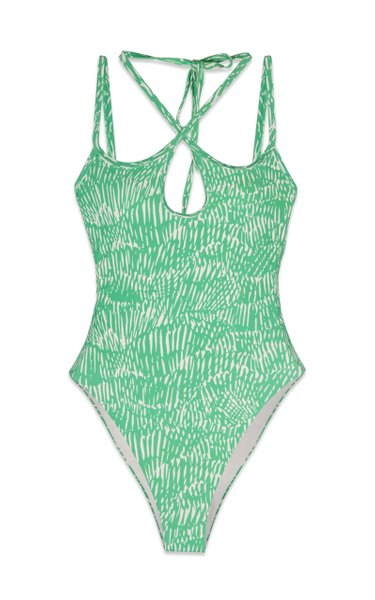 Alayna Abstract Fern Print Cutout Swimsuit