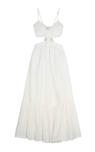 Kennedi Washed Cotton Cutout Maxi Dress