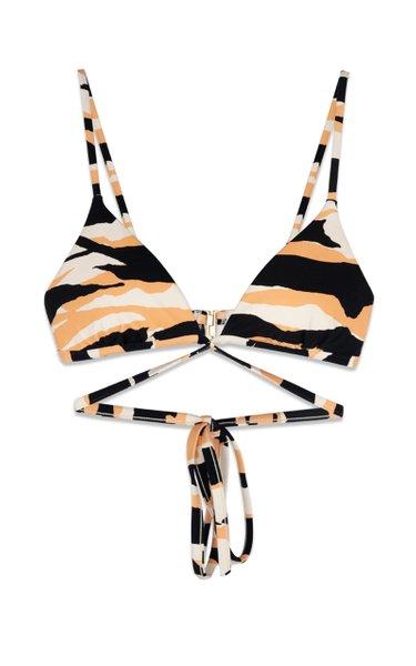Harlen Zebra-Print Bikini Top