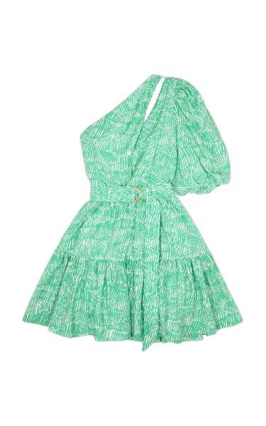 Adriana Abstract Fern-Print Mini Dress
