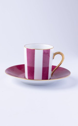 Set Of 2 Straight Coffee Cup & Saucer In Transat