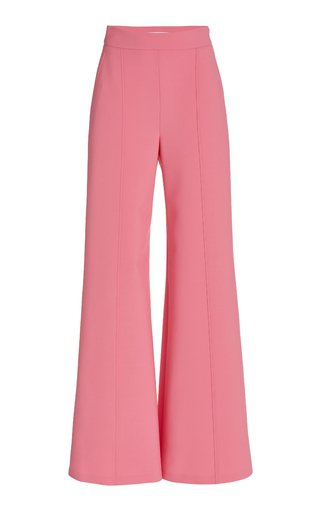 Stretch Virgin-Wool Wide-Leg Pants