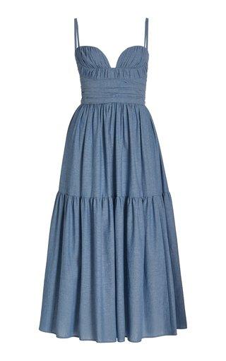 Sweetheart Cotton Midi Dress