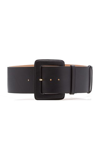Wide C-Buckle Leather Belt