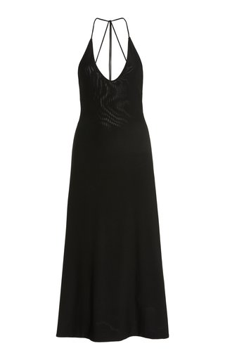 Rina Open-Back Jersey Midi Dress