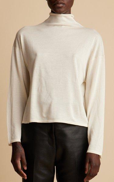 Jen Knit Silk Turtleneck Top