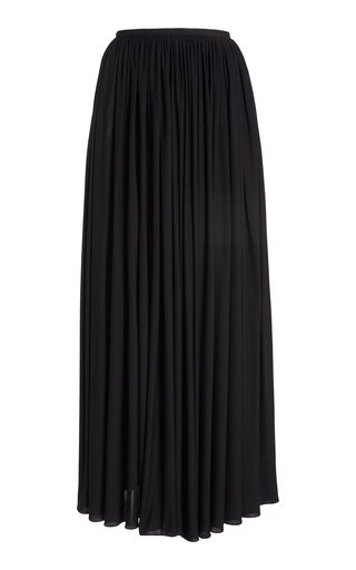 Lowell Draped Jersey Maxi Skirt