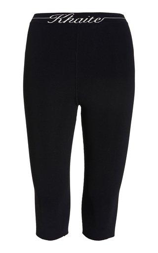 Harden Cropped Logo-Knit Jersey Leggings