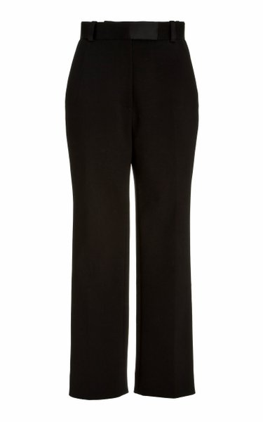 Melie Woven Cropped Straight-Leg Trousers