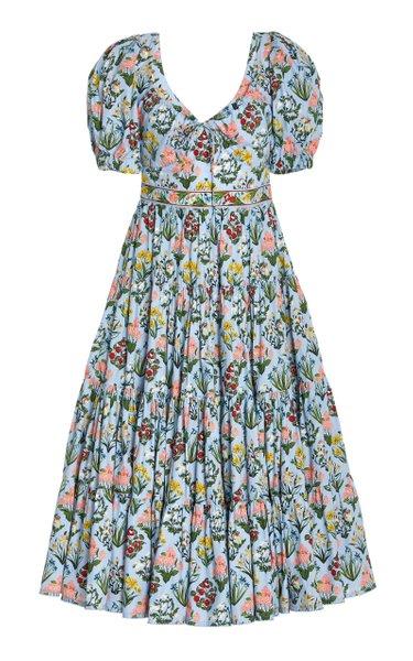 Palmera Floral Cotton Midi Dress