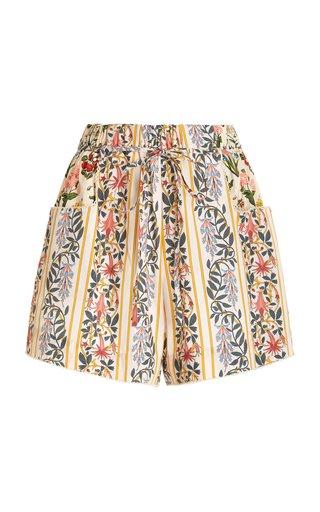 Trebol Floral Cotton Mini Shorts