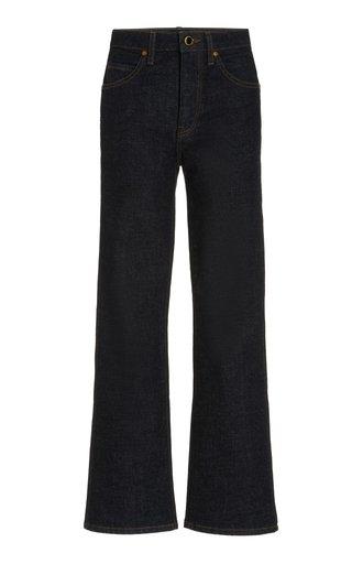 Vivian Stretch High-Rise Cropped Bootcut Jeans