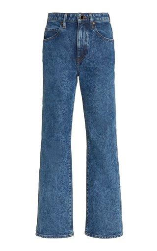 Abigail Stretch High-Rise Straight-Leg Jeans