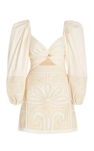 Tropical Mantra Stretch Cotton Poplin Mini Dress
