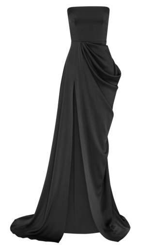 Hudson Strapless Crepe Gown