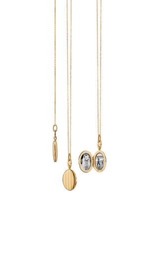 Slim Eve 18K Yellow Gold Locket Necklace