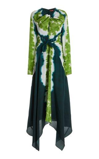 Adikia Shibori-Print Stretch-Crepe Maxi Dress