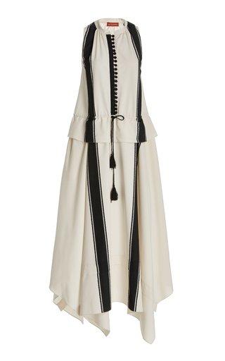Penelope Tasseled Striped Woven Maxi Dress