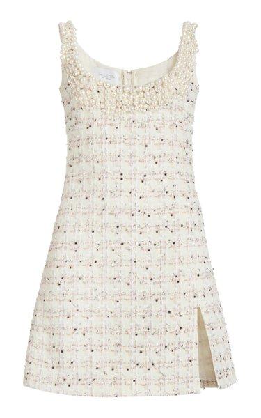 Embellished Boucle Mini Dress
