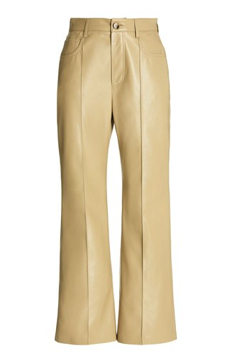 Zoey Vegan Leather Flared Pants