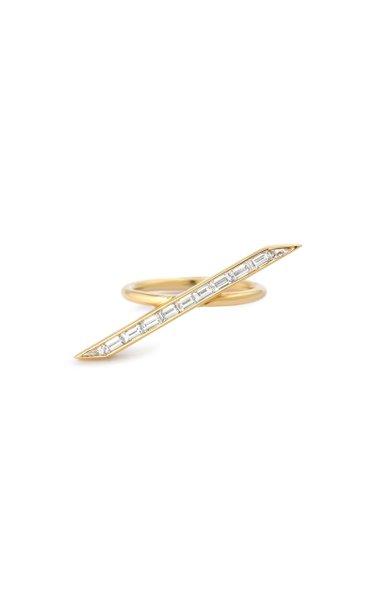 Line 18K Yellow Gold Diamond Ring