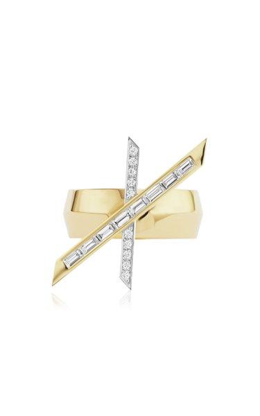 X 18K Yellow Gold Diamond Ring