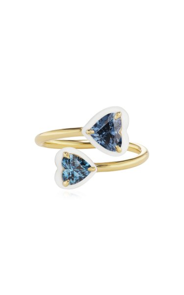 Elsa Enameled 18K Yellow Gold Spinel Ring