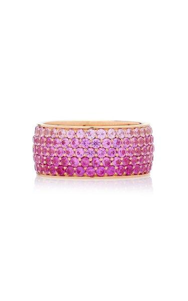 Baby Flamingo 18K Rose Gold Sapphire Ring