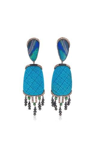 18K White Gold Multi-Stone Earrings