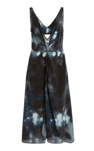 Renada Printed Silk Midi Dress