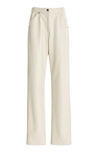 Eve Faux Leather Straight-Leg Pants