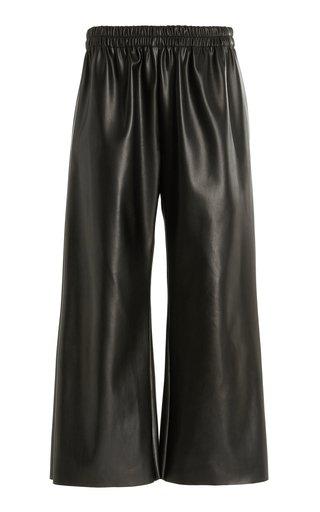 Oscilla Faux Leather Cropped Wide-Leg Pants
