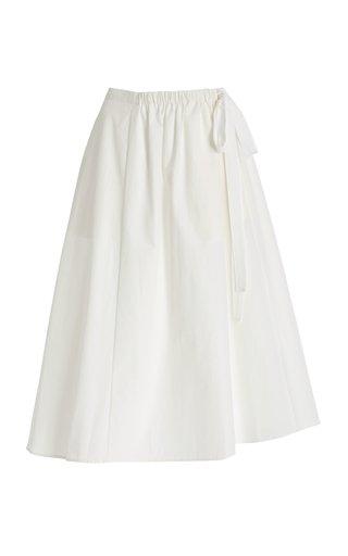 Jillian Cotton-Blend Midi Skirt